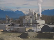 konkret fabrik Arkivbilder