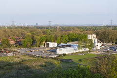 Konkret fabrik i Duisburg, Tyskland Arkivbilder