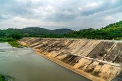 Konkret flodbank royaltyfri foto