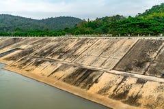 Konkret flodbank arkivbilder