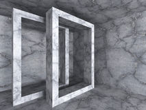 Konkret geometrisk bakgrund för arkitekturdesignbeståndsdel Arkivbilder