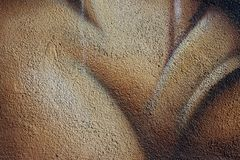 konkret kornig målad texturvägg Royaltyfri Foto