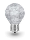 Konkret ljus kula för sten på vit bakgrund royaltyfri illustrationer
