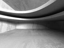 Konkret mörker tömmer rum modern arkitekturdesign royaltyfri illustrationer
