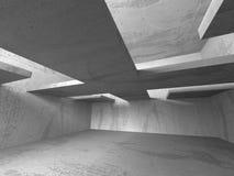 Konkret mörker tömmer rum modern arkitekturdesign vektor illustrationer