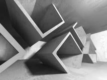 Konkret mörker tömmer rum modern arkitekturdesign Royaltyfri Fotografi