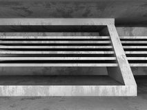 Konkret mörker tömmer ruminre Futuristisk arkitekturbackg Royaltyfria Foton