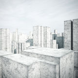 Konkret modell av en stad Royaltyfri Fotografi