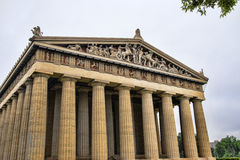 Konkret normalformat kopia av Parthenontemplet i Nashville Tennessee Royaltyfri Fotografi