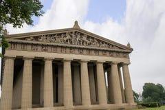 Konkret normalformat kopia av Parthenontemplet i Nashville Tennessee Fotografering för Bildbyråer