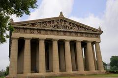 Konkret normalformat kopia av Parthenontemplet i Nashville Tennessee Arkivbilder