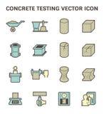 Konkret provningssymbol vektor illustrationer