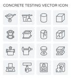 Konkret provningssymbol stock illustrationer