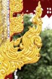 Konkret skulptur i tempel i Thailand Royaltyfri Foto