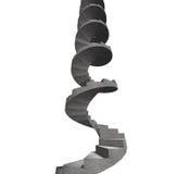 Konkret spiraltrappuppgång, illustration 3D Arkivfoto
