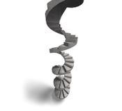 Konkret spiraltrappuppgång, illustration 3D Royaltyfri Fotografi