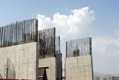 konkret stål Arkivbilder