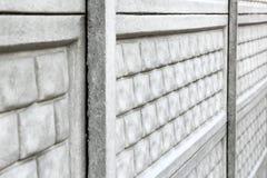 konkret staket Bakgrund N?ra ?vre f?r staket fotografering för bildbyråer