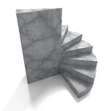 Konkret stenstegetrappa på vit bakgrund royaltyfri illustrationer
