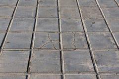 Konkret tegelplatta för utomhus- brukstrottoarer, icke-snedsteg och stenläggning för klädermotstånd Arkivfoton