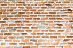 Konkret tegelstenvägg på konstruktion Arkivfoto