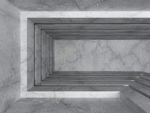 Konkret tom inre architectrebakgrund för mörkt rum Arkivbilder