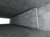Konkret tomt stads- rum Mörka stenväggar Arkitekturbackgr Arkivbild