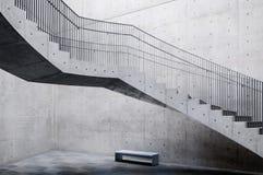 Konkret trappa i Akita Museum av konst Royaltyfri Bild