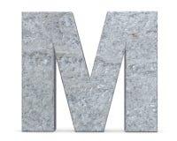 Konkret versal - M som isoleras på vit bakgrund illustrationen 3d framför royaltyfri illustrationer