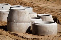 Konkreta dräneringrør Royaltyfri Fotografi