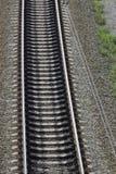 konkreta järnväg sleepers Arkivbilder
