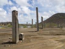 Konkreta pyloner arkivbild