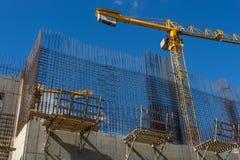 Konkrete Baustelle des Neubaus Lizenzfreies Stockfoto