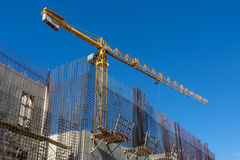 Konkrete Baustelle des Neubaus Stockbilder