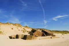 Konkrete Bunker vom zweiten Weltkrieg Lizenzfreie Stockfotos