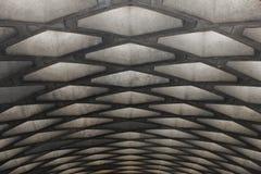 Konkrete Decke einer U-Bahn, Montreal Lizenzfreie Stockbilder
