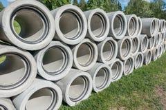 Konkrete Entwässerungrohre Lizenzfreie Stockbilder