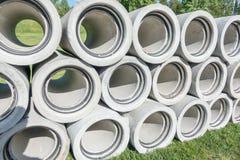 Konkrete Entwässerungrohre Lizenzfreies Stockfoto