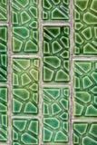 Konkrete grüne Musterkunst der Fliese Stockfotografie