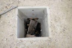Konkrete Inspektionsbrunnen Lizenzfreies Stockbild