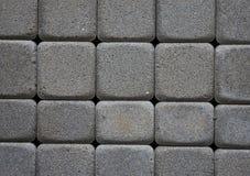 Konkrete Pflastersteine Hintergrund, Nahaufnahme Stockfoto