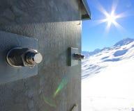 Konkrete Schnee-Schraube Lizenzfreie Stockfotografie