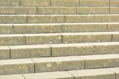 Konkrete Schritte stockfoto