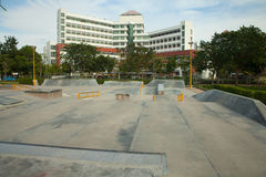 Konkrete Skateboardrampe im Freien Stockfoto