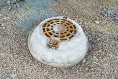 Konkrete Wasserbrunnen Lizenzfreies Stockbild