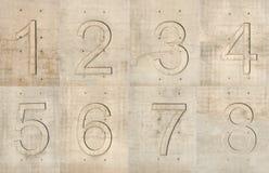 Konkrete Zahlen Stockbild