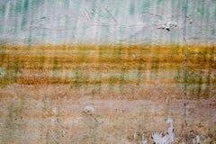 Konkreter alter gelber Hintergrund Stockfoto