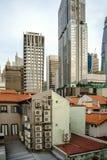 Konkreter Dschungel von Chinatown, Singapur Stockbild