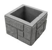 Konkreter grauer Block für das Errichten Stockfoto