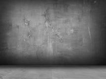 Konkreter grauer Innenhintergrund Stockfotos